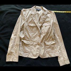 Talbots lightweight stretch tan blazer 8